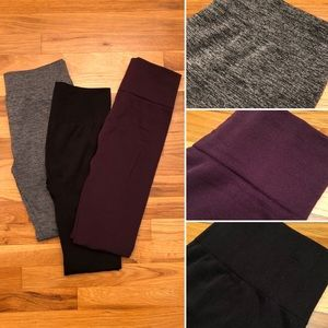 🆕 Bundle of 3 Warm Fleece Winter Leggings